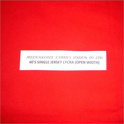 40'S Single Jersey Lycra (Open Width)