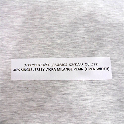 Lycra Single Jersey Fabric
