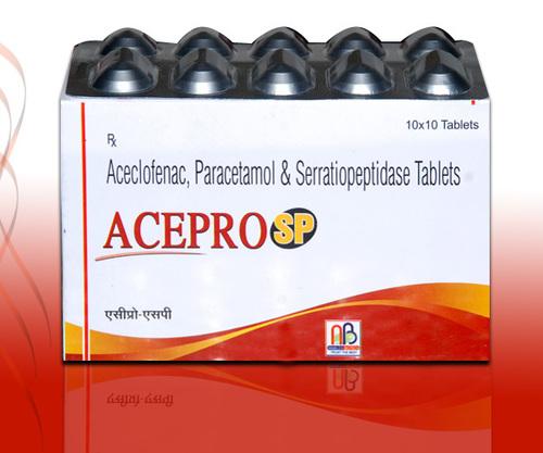 Aceclofenac Paracetamol Serrtiopeptidase Tablets