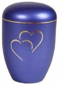 Beautiful Heart Metal Cremation Urn