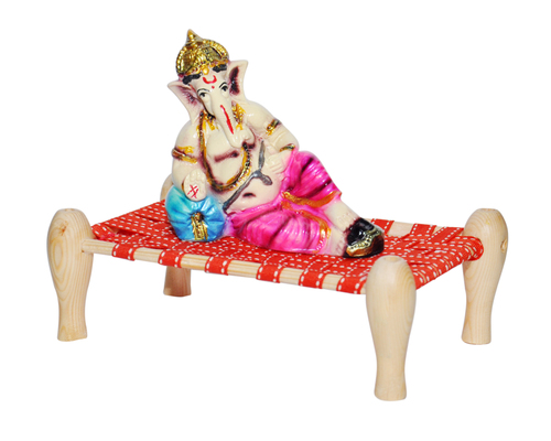 Small Charpai Mix Wooden And Resin Idols