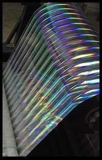 Metallised Polyester Hologram Rainbow Pillar Film
