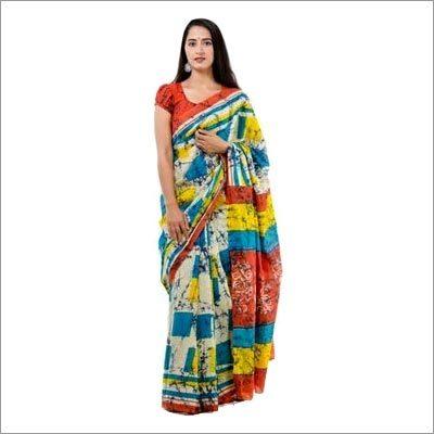 Block Printed Cotton Fancy Saree