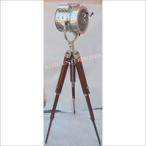 Nautical Three Fold Tripod Floor Spot Search Light