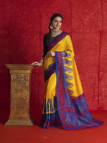 Fancy Latest Traditional Designer Printed Saniya Patti Saree
