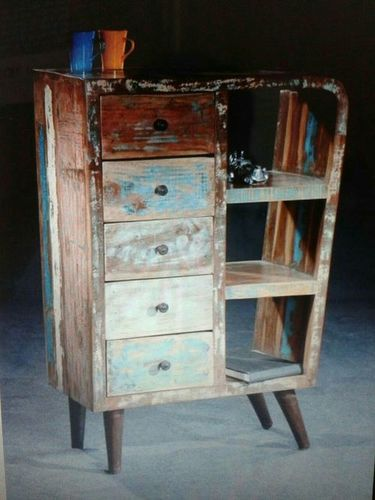 Reclaimed Wooden Cabinet Table