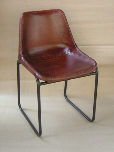 Iron  Chair With Leather