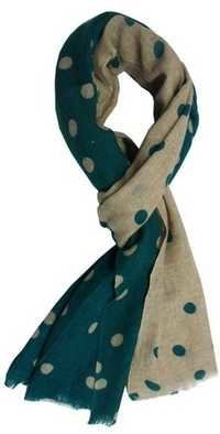 Green Wool Polka Dot Shawls