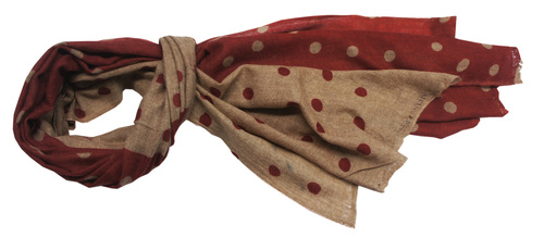 Red Woolen Polka Dot Shawls