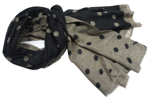 Black Wool Polka Dot Shawls