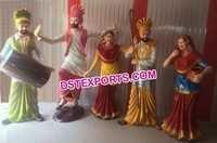 Life Size Punjabi Culture Bhangra Statue