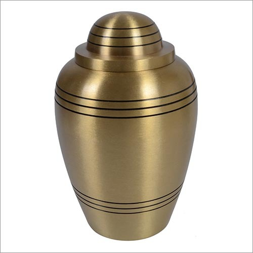 Stripes Brass Urn