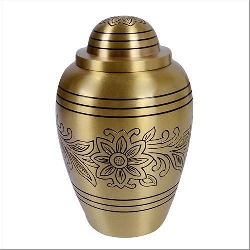 Flower Brass Urn