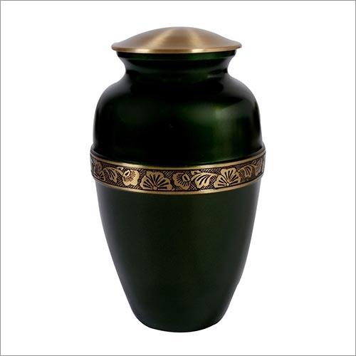 Bottle Green Brass Urn