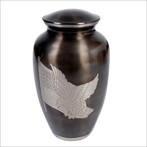 Flag Eagle Brass Urn
