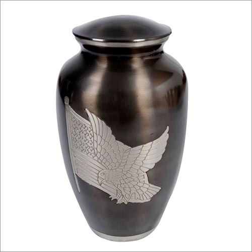 Flag Eagle Brass Urn