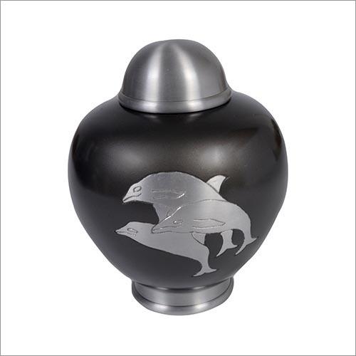 Dolphin Brass Urn