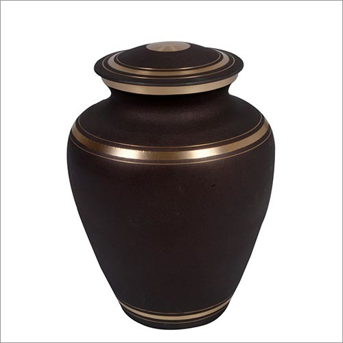 Dark Brown Brass Urn