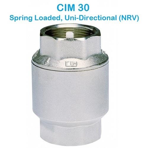 CIM 30 Spring Loaded Uni-Directional (NRV)