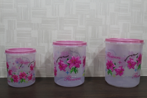 Transparent Printed Container Set