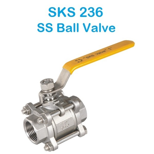 SKS 236 SS 3 Piece Design Ball Valve