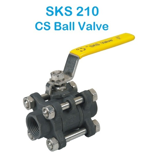 SKS 210 SS 3 Piece Design Ball Valve