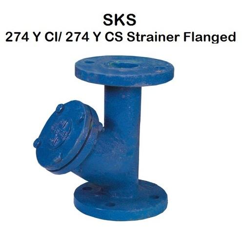 SKS 274 Y Type Strainer Ball Valve (Flanged)