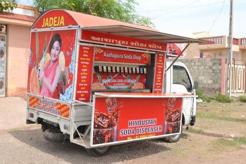 soda machine in vehicle