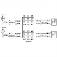 4-20ma Passive Signal Isolator(Two In Two Out)
