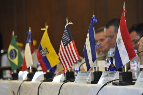 Conference Table Flags