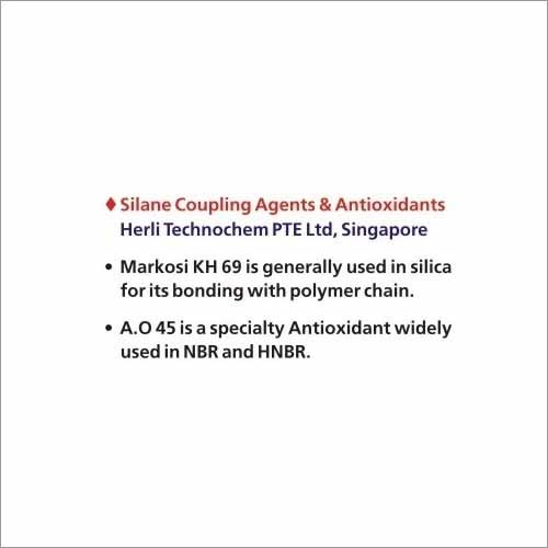 Silane Coupling Agents and Anti Oxidant AO 45 - SARVAN CARBOCHEM LLP