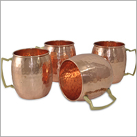 Hammered Copper Moscow Mule Mug Set Of 4