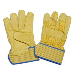 Yellow Palm Leather Gloves