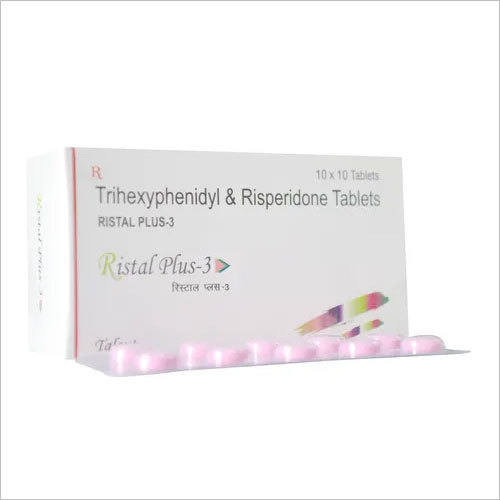 Risperidone 3 mg + Trihexyphenidyl 2 mg