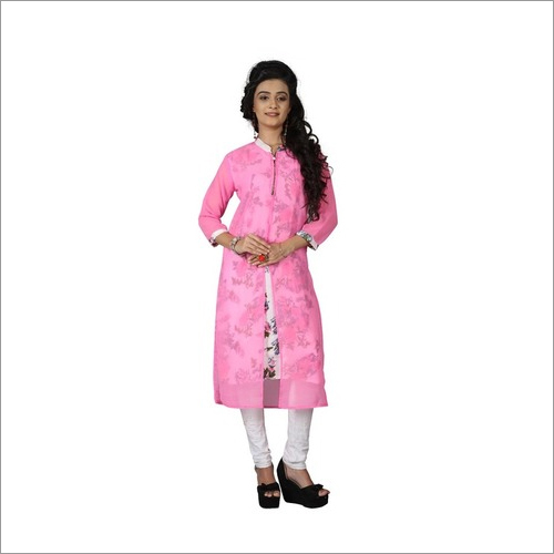 Designer Kurtis Pink Colors
