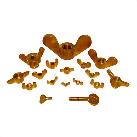 Wing Nuts Brass