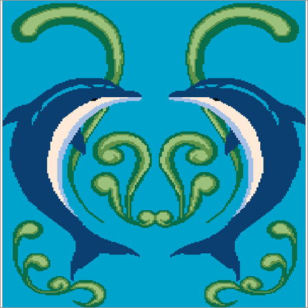 Swimming Pool Dolphin Tile
