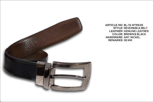 Beaded Black Leather belts