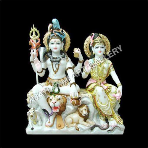Marble Gouri Shankar Statue