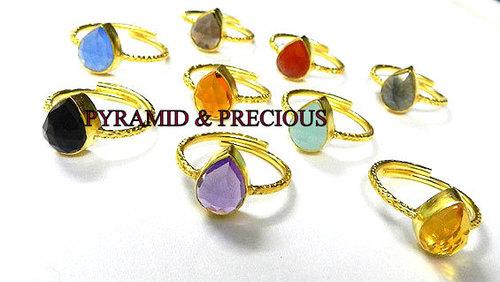 Gemstones Silver Finger Rings