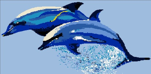 Dolphin Mosaic Tiles