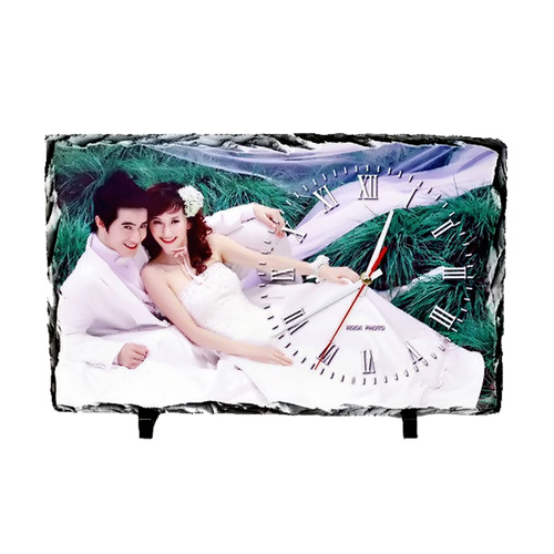 Sublimation Rock Clock Photo Frame
