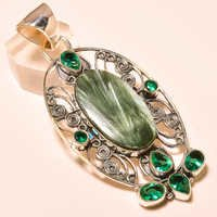 RUSSIAN SERAPHNITE , CHROME DIOPSIDE VINTAGE STYLE