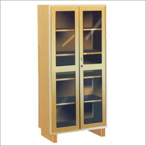Glass Door Cupboard with 4 Adjustable Shelves