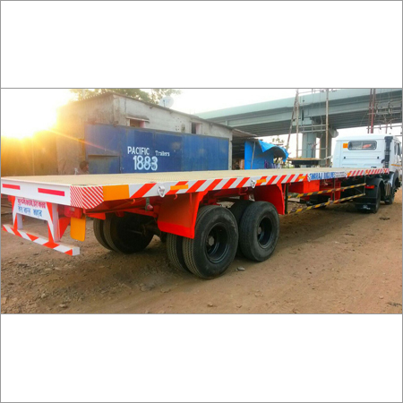 Double Axle Flatbed Trailer