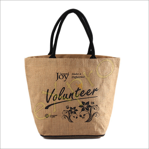 Big Jute Shopping Handbag