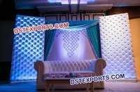 Leather White Tufted Wedding Backdrop