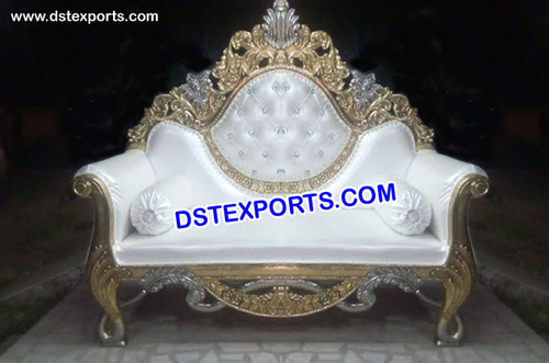 Gold And Silver Trim Wedding Sofa