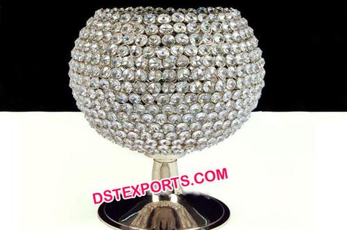 Globe Crystal Centerpiece