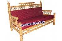 Traditional Sankheda Red Wedding Sofa